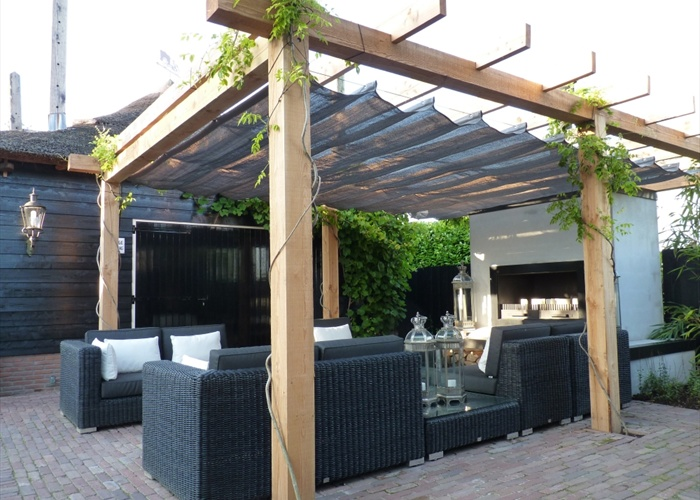 Houten pergola op maat online veranda shop - Pergola houten ...